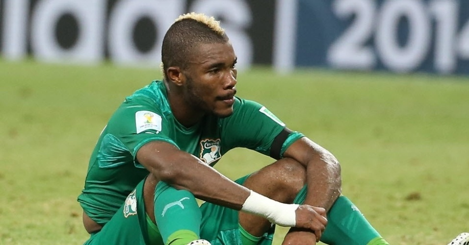 Serey Die, da Costa do Marfim, em jogo contra a Grécia no Castelão