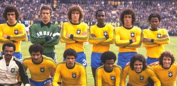 A seleção brasileira que enfrentou e venceu a Itália, na disputa do terceiro lugar de 1978