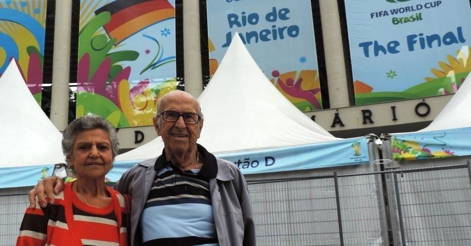 Marylia e Gabriel Silva acompanharão a final entre Alemanha e Argentina neste domingo, no Maracanã, local onde se conheceram