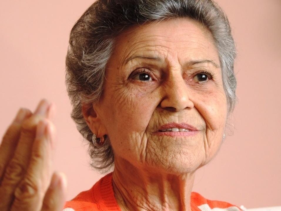 Marylia Silva concede entrevista ao UOL Esporte na casa onde mora com o marido há 60 anos, no bairro do Lins de Vasconcellos, no Rio