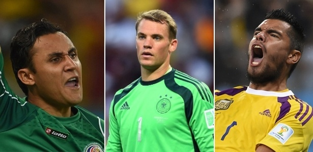 Keylor Navas, Manuel Neuer e Sergio Romero