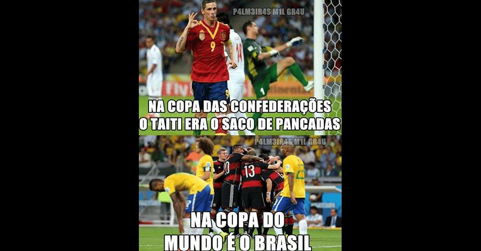 Após derrota para Holanda, internautas já comparam Brasil com Taiti