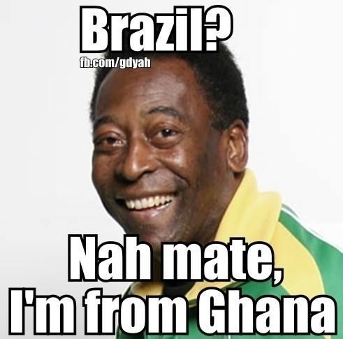 """""""Brasil? Não, sou de Gana"""". Até Pelé está envergonhado com a seleção"""