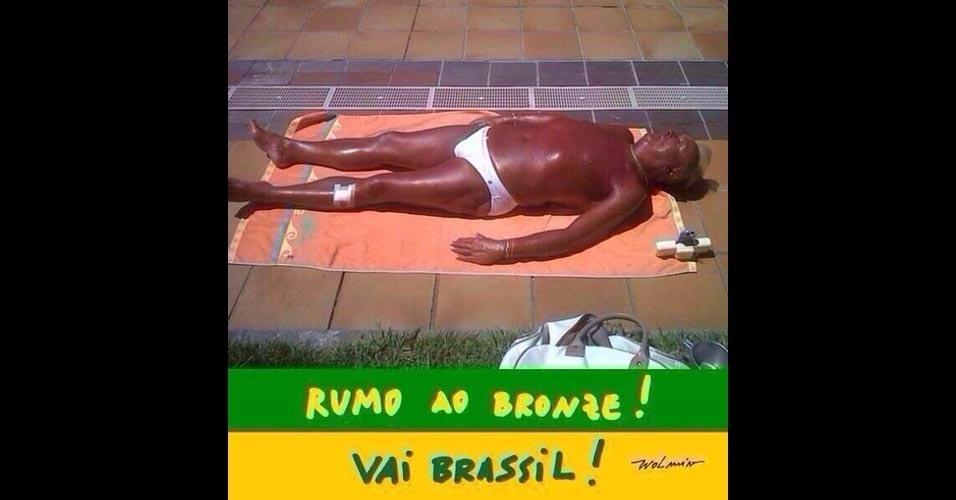 Brasil se preparando para ir rumo ao bronze. Opa...