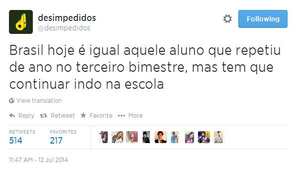 Brasil virou aluno repetente