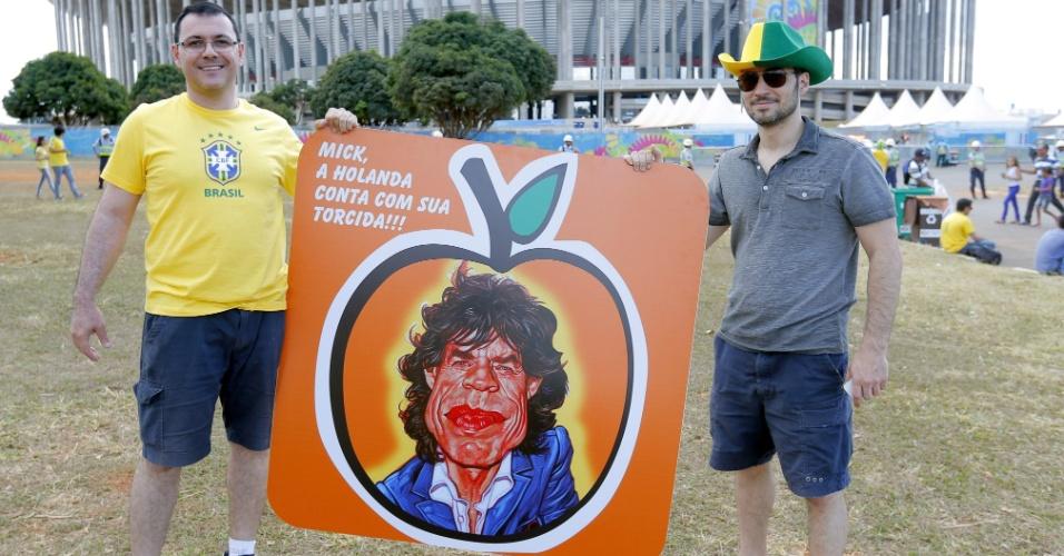 Brasileiros apostam no pé-frio de Mick Jagger para uma vitória em cima da Holanda na disputa pelo terceiro lugar