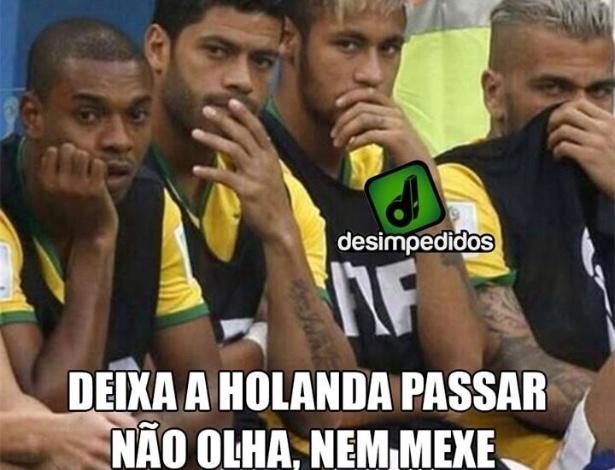 """Brasileiros """"nem mexem"""" com a Holanda"""