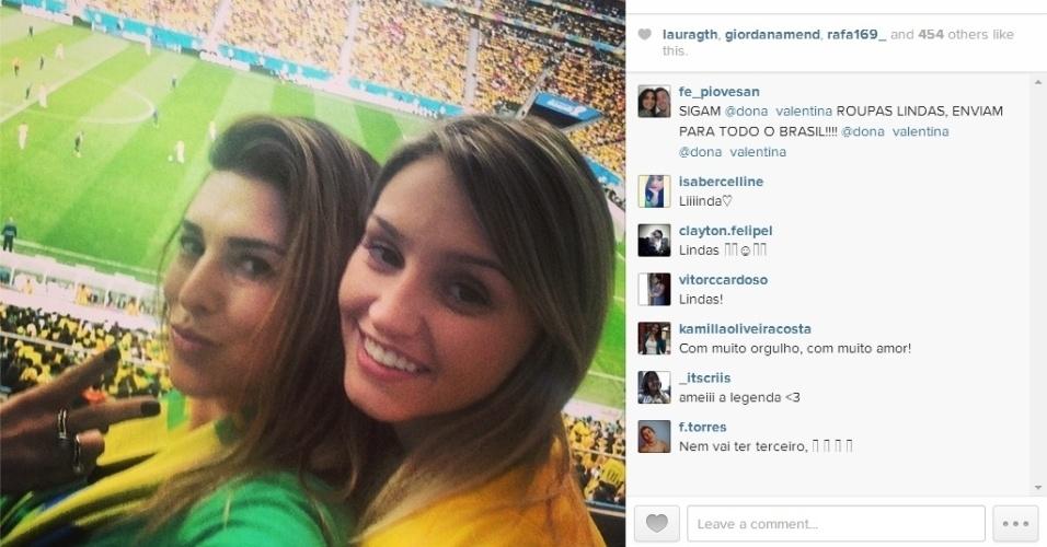 Fernanda Paes Leme vai ao Mané Garrincha para torcer pelo Brasil contra a Holanda pela disputa de terceiro lugar