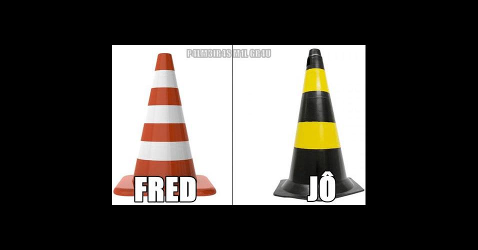 Fred e Jô exibem não mudaram muita coisa no ataque