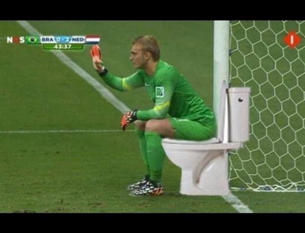 Goleiro da Holanda não teve muito trabalho no jogo e virou meme na internet
