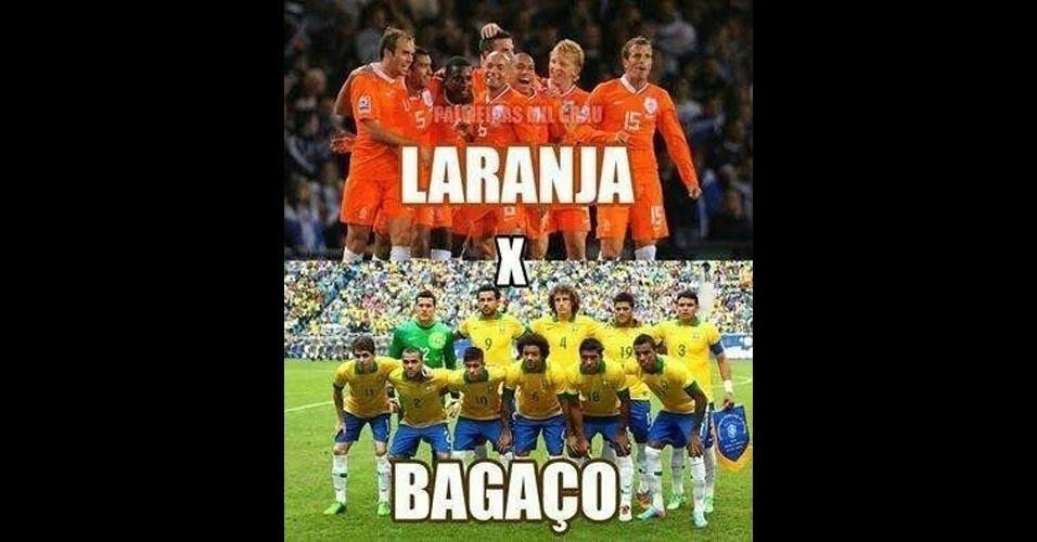 Holanda x Brasil ou Laranja x Bagaço?