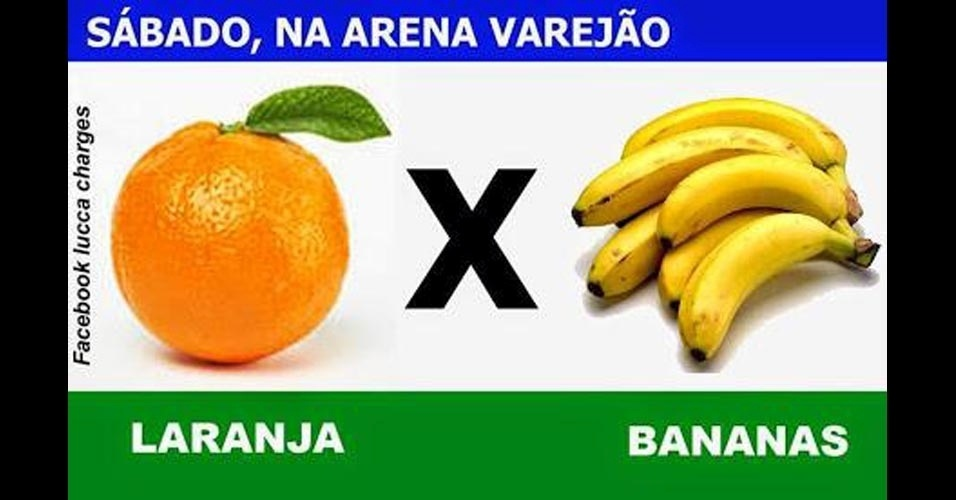 Internautas criam o clássico Laranjas x Bananas