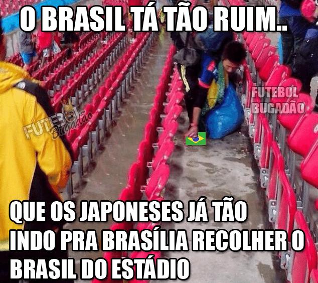 Internautas pedem que os japoneses recolham a seleção brasileira
