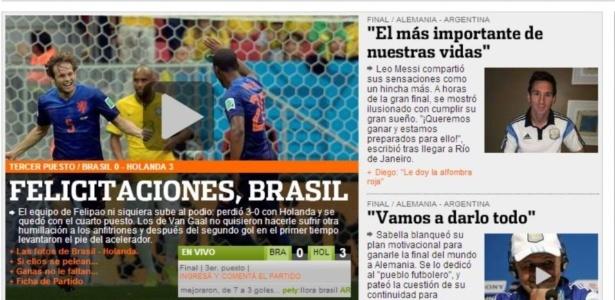 Jornal argentino Olé não perdeu a oportunidade de provocar mais uma vez os brasileiros