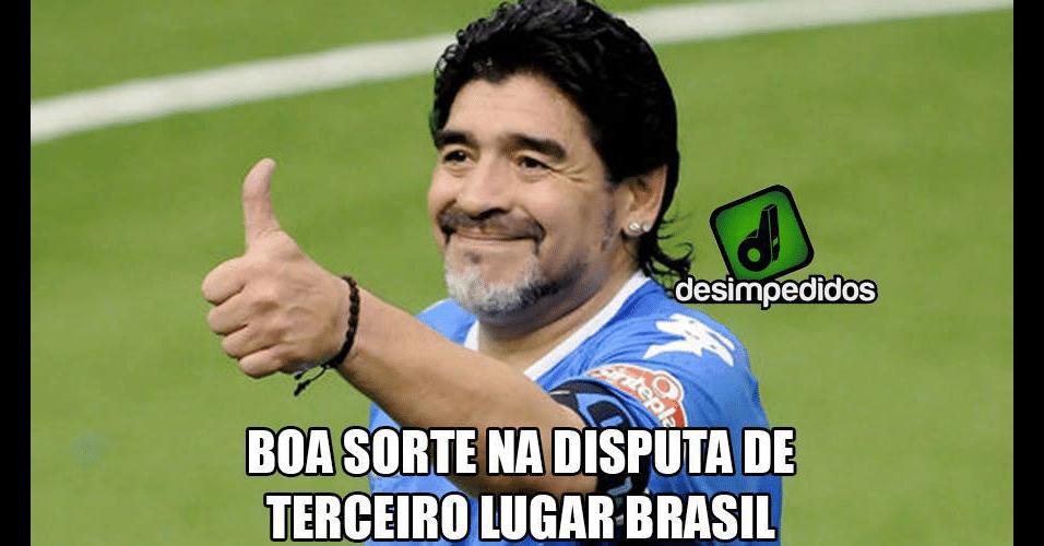 Maradona tirou sarro do Brasil