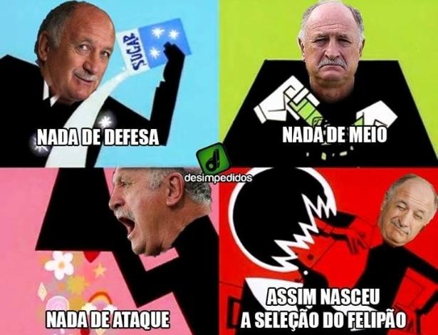 """""""Receita"""" de Felipão não deu certo na Copa"""