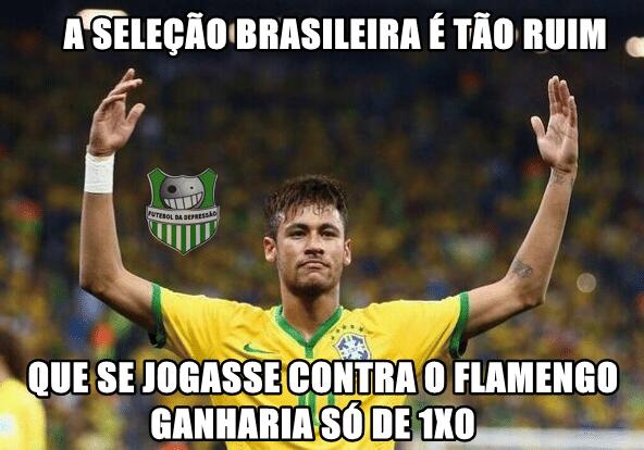 Torcedores cutucaram o Brasil e o Flamengo com uma só montagem