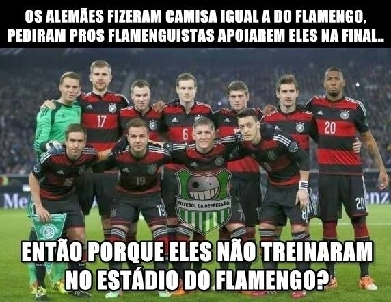 Alemães jogam com camisa do Flamengo, pedem torcida dos flamenguistas na final... Então por que não treinaram no estádio do Flamengo?