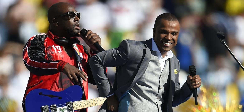 Wyclef Jean cantou na cerimônia de encerramento da Copa do Mundo de 2014, no Maracanã - Fabrice Coffrini/AFP