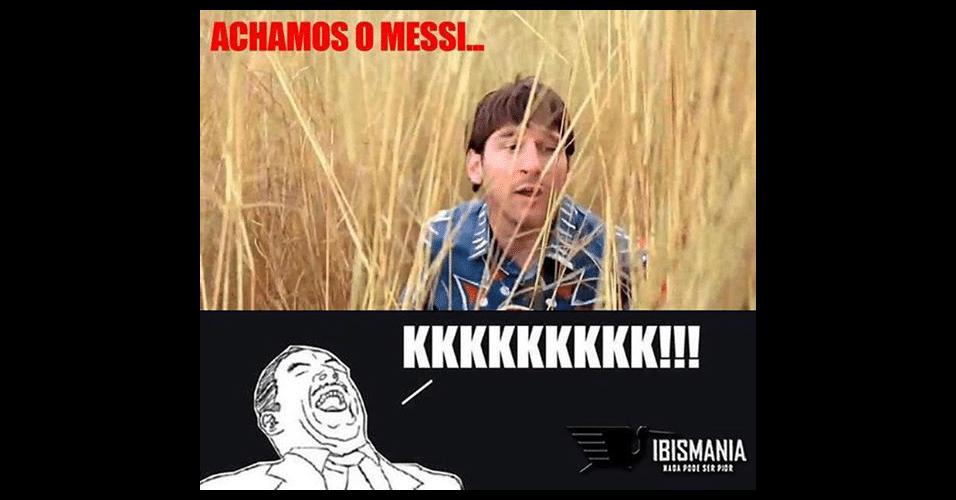 Alguns internautas encontram Messi em um ambiente inusitado