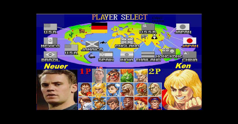 Após trombada com Higuain, Neuer virou personagem de videogame