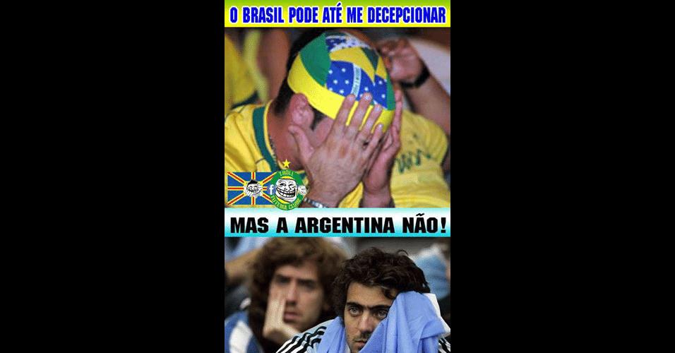 Argentina não decepcionou os torcedores... Brasileiros