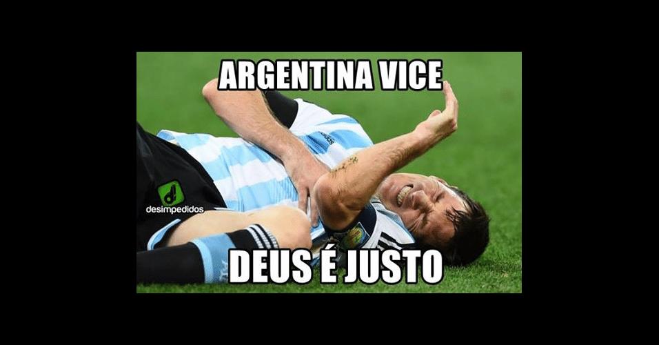 Argentina vice faz a alegria dos torcedores brasileiros