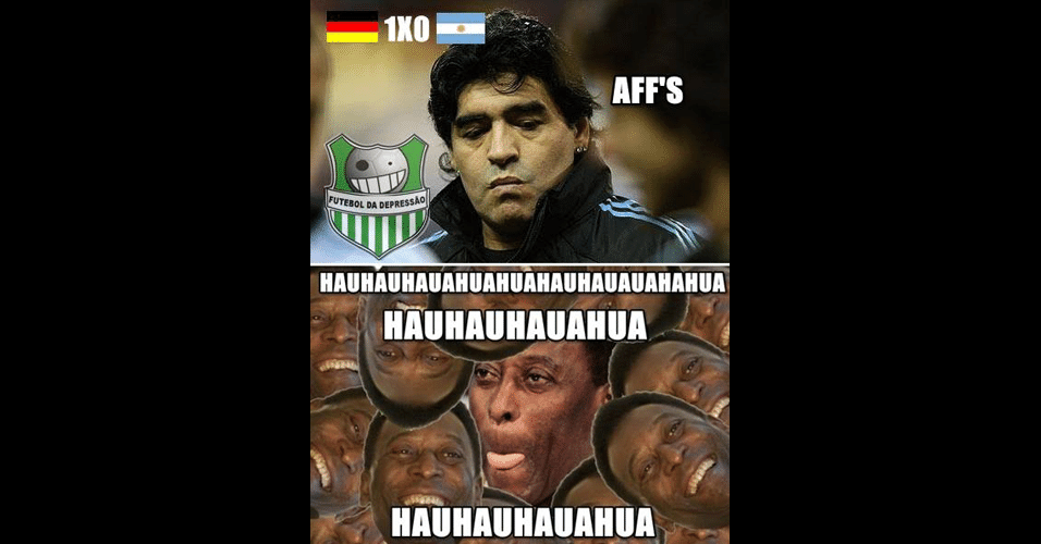 Brasileiros tiram sarro dos argentinos