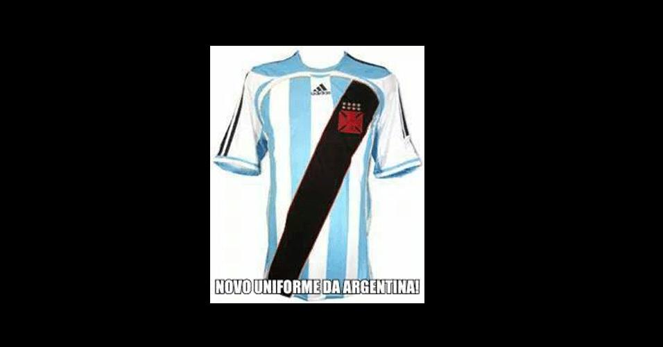 Camisa da Argentina ganhou uma versão após a Copa
