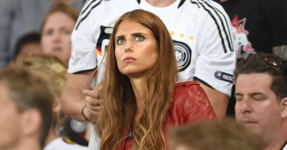 Cathy Fischer, mulher de Hummels, acompanha decisão da Copa entre Alemanha e Argentina