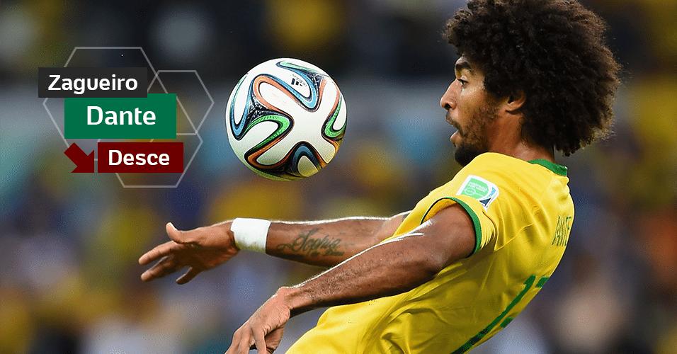 Dante - Entrou e falhou muito no 7 a 1 para a Alemanha, na semifinal. Na próxima Copa terá 35 anos e dificilmente disputará o torneio.