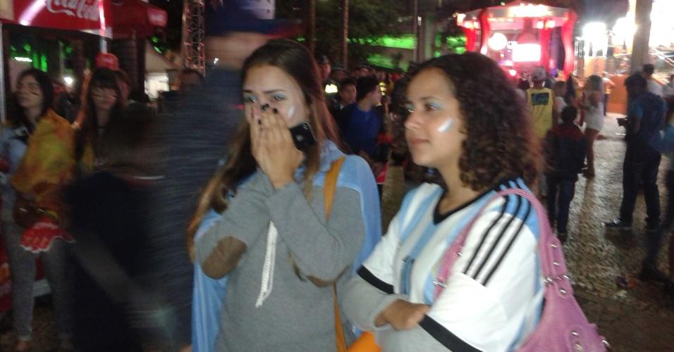 Fan Fest em SP tem torcedores persistentes da Argentina contra secadores