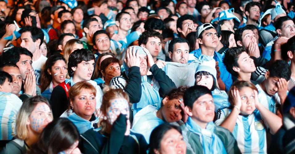 Gol de Mario Götze na prorrogação desespera torcedores em Buenos Aires
