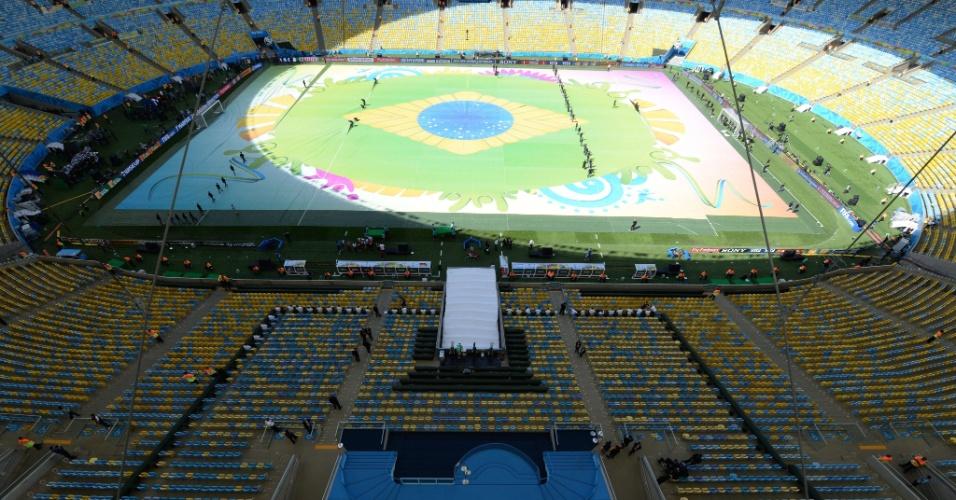 A quatro horas da final da Copa do Mundo, é assim que está o estádio do Maracanã