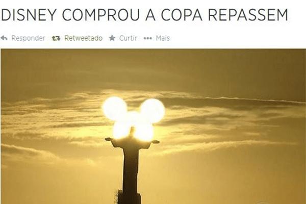 Imagem exclusiva mostra que a Disney comprou a Copa do Mundo do Brasil