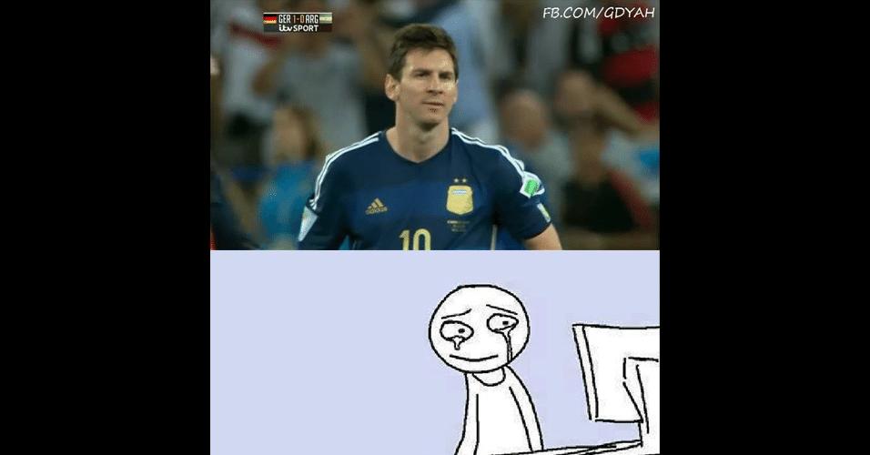 Internautas tiveram pena de Messi