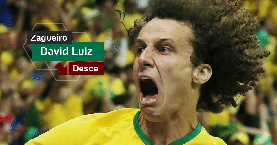 David Luiz - Líder no aperto contra o Chile e salvador na vitória sobre a Colômbia, errou de todos os jeitos na goleada da Alemanha e na derrota para a Holanda. Estará com 31 anos em 2018.
