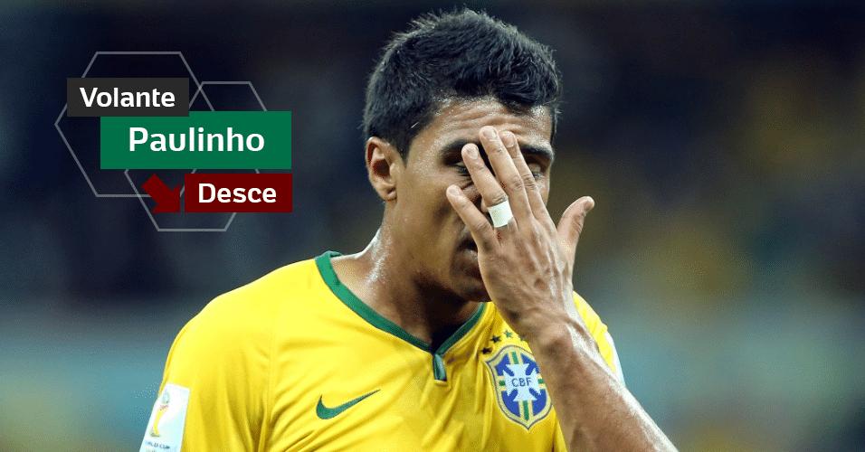 Paulinho - Mal na primeira fase da Copa, virou reserva nas oitavas. Depois voltou ao time no fracasso diante da Alemanha. O melhor que fez no torneio foi dar incentivo aos jogadores antes dos pênaltis contra o Chile. Na próxima Copa terá 30 anos.