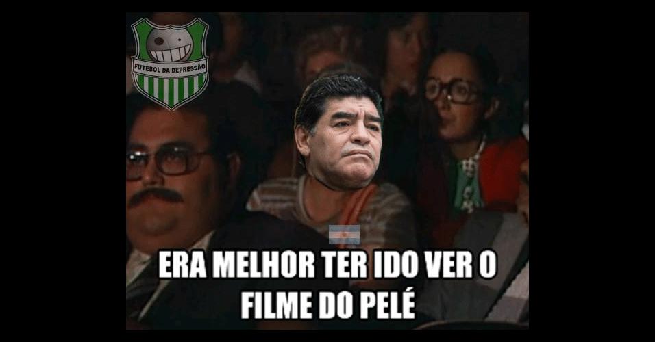 Maradona preferiria ter assistido outra coisa