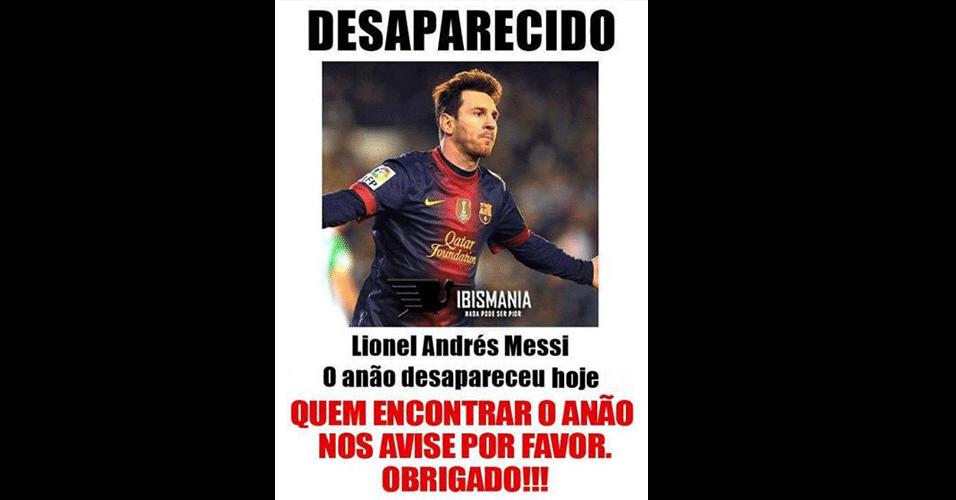 Messi está desaparecido