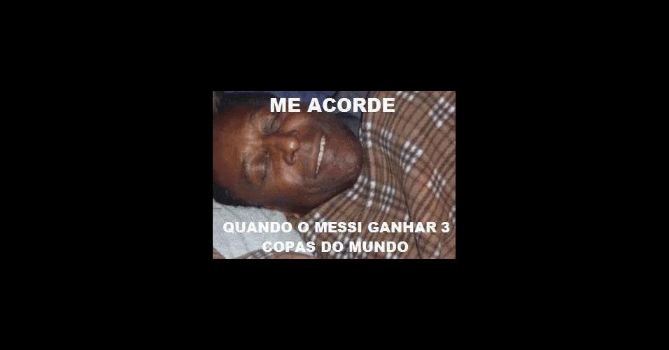 Messi não interrompeu sono de Pelé