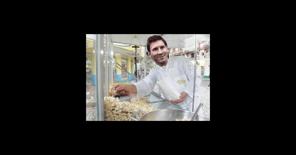 Messi pipoqueiro fez sucesso nas redes sociais