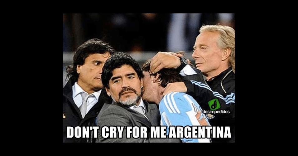 """""""Não chore por mim, Argentina"""""""