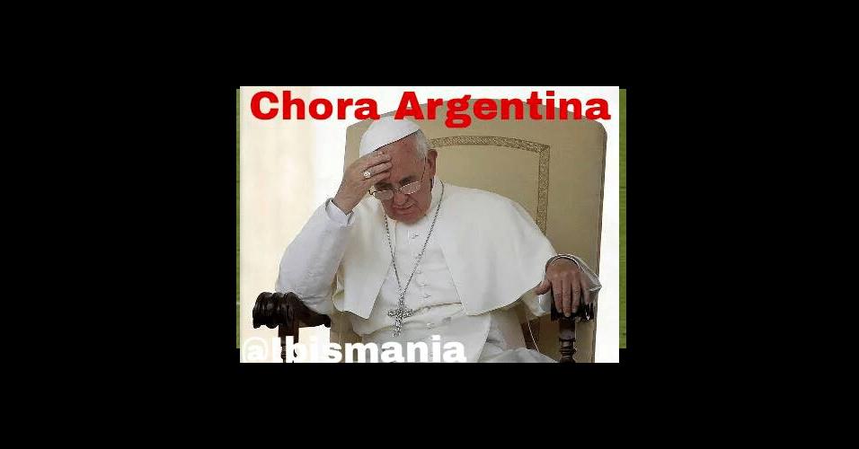 Papa não escapou das zoeiras dos internautas