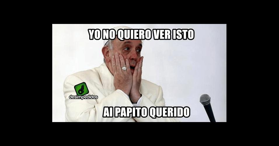 Papa não queria ver a derrota argentina