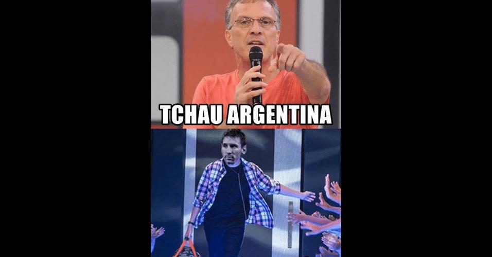Pedro Bial anuncia: Argentina está eliminada