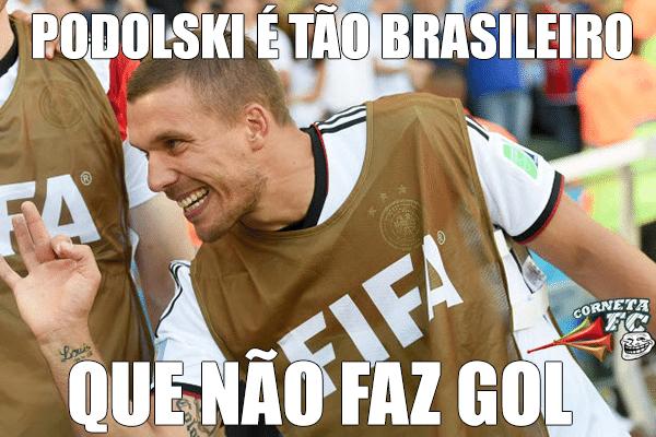 Podolski é tão brasileiro que nem gol ele faz
