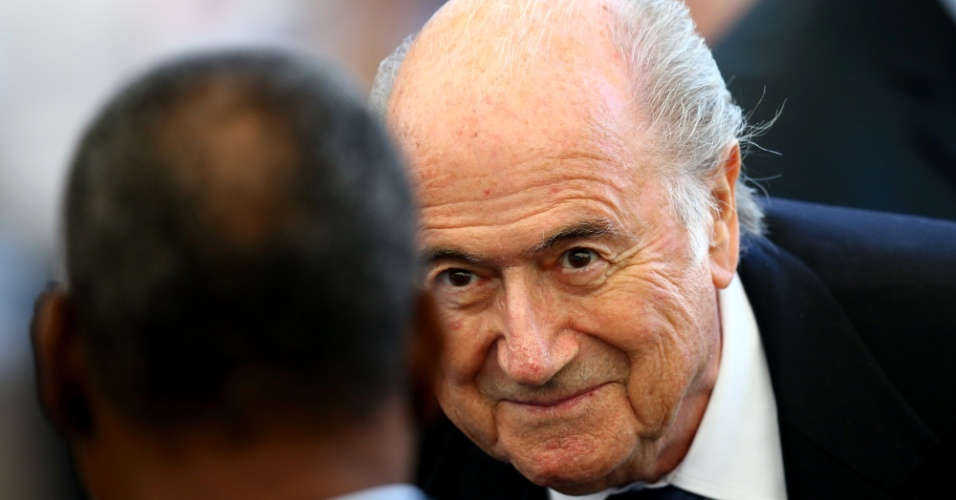 Presidente da Fifa, Joseph Blatter, está no Maracanã para acompanhar a final da Copa