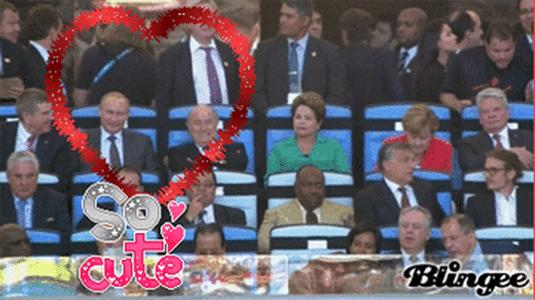 """Putin e Blatter sentados lado a lado: """"Tão bonitinhos"""""""