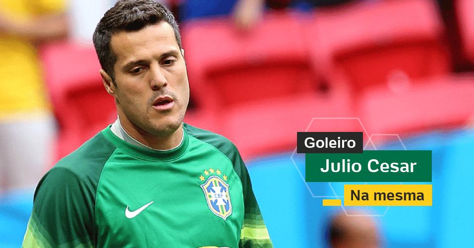 Julio César - Salvou o Brasil nas oitavas de final e não tinha comprometido até as semifinais. Ficou com a marca de goleiro que mais sofreu gols na seleção em uma Copa. Já admitiu que este foi seu último Mundial